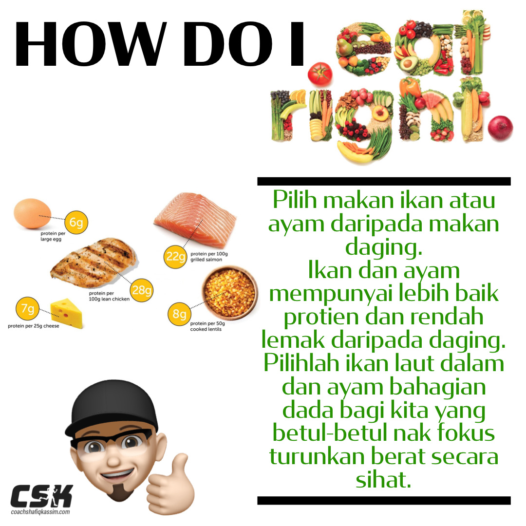 HOW DO I EAT RIGHT?! PILIHLAH IKAN ATAU AYAM
