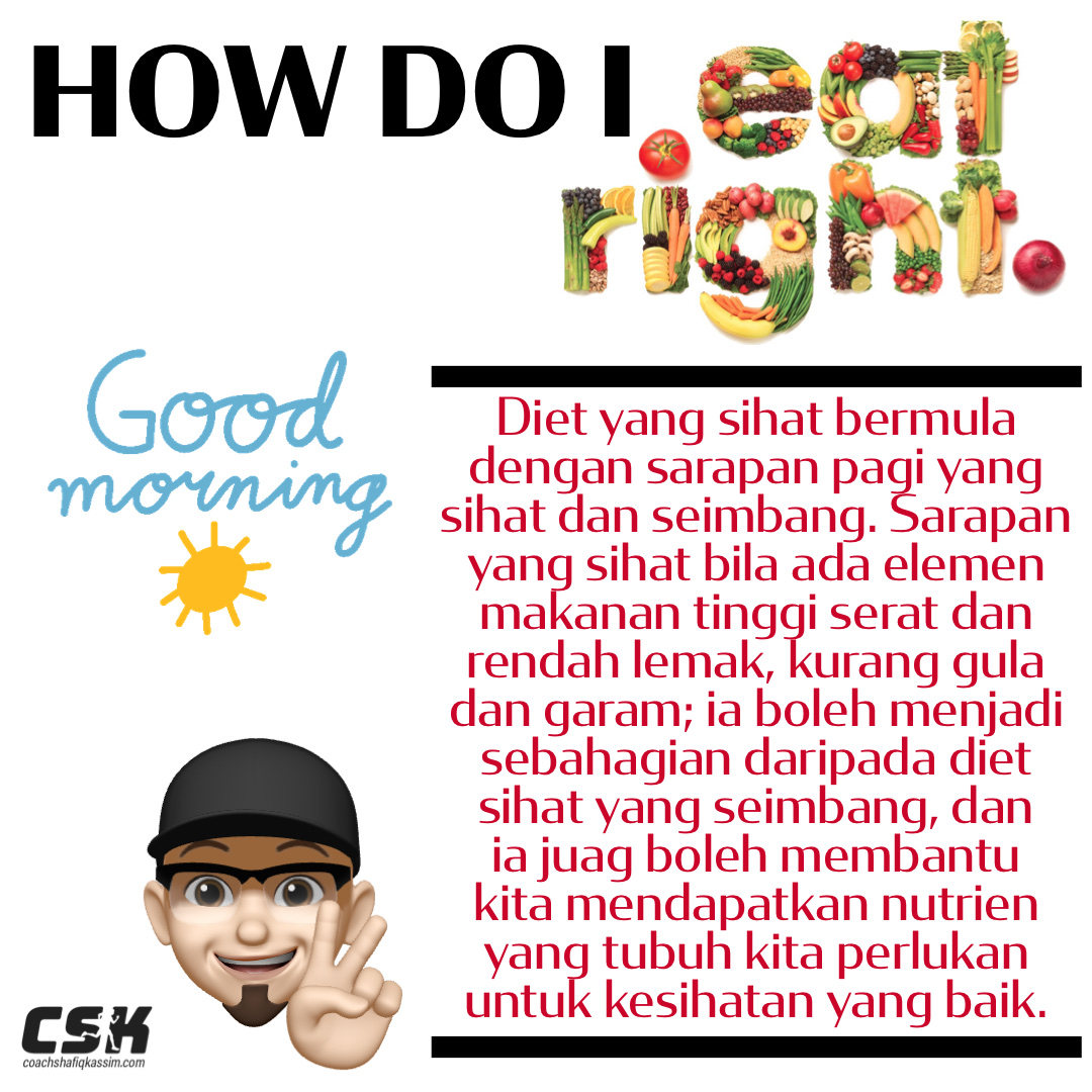 HOW DO WE EAT RIGHT; DON'T SKIP BREAKFAST
